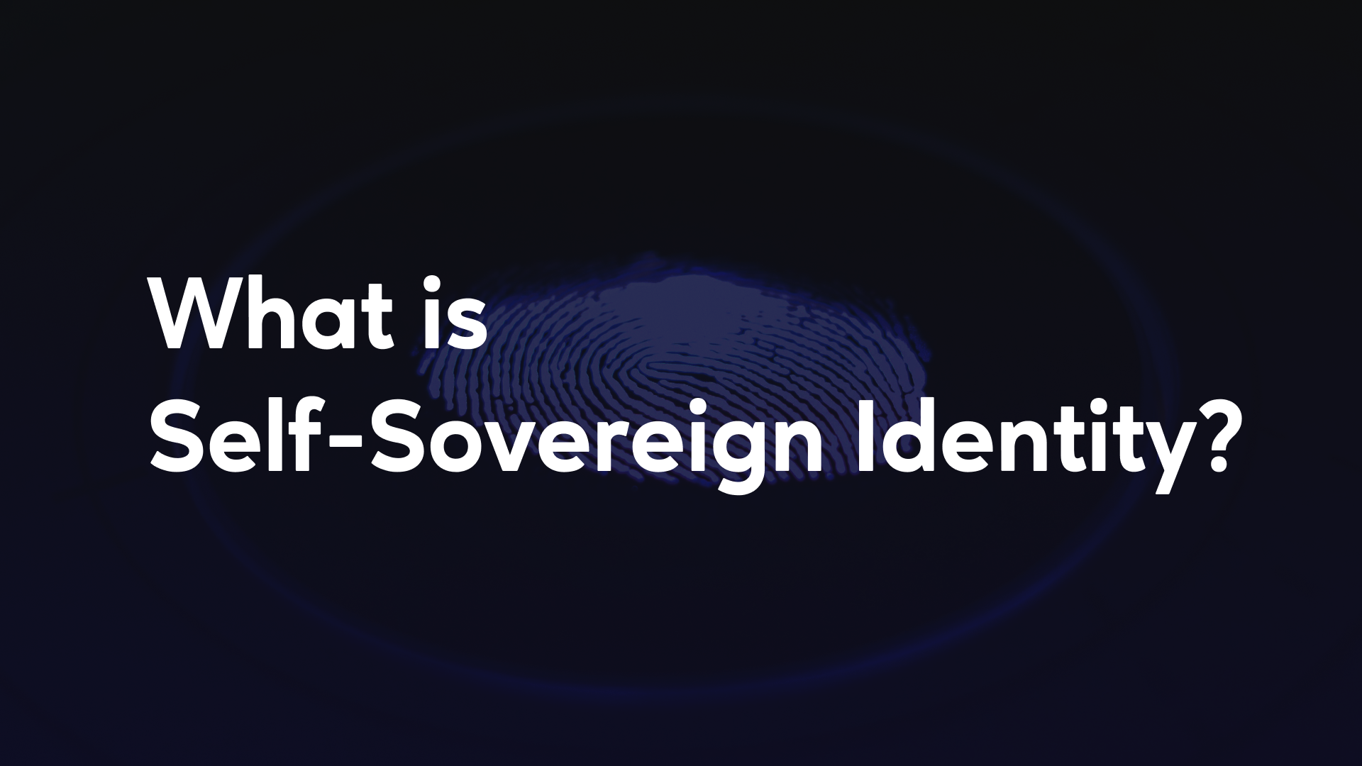The main principle behind SSIs is that identity information and associated data should be more easily accessible, secure and private in the digital world as it is in the physical world.