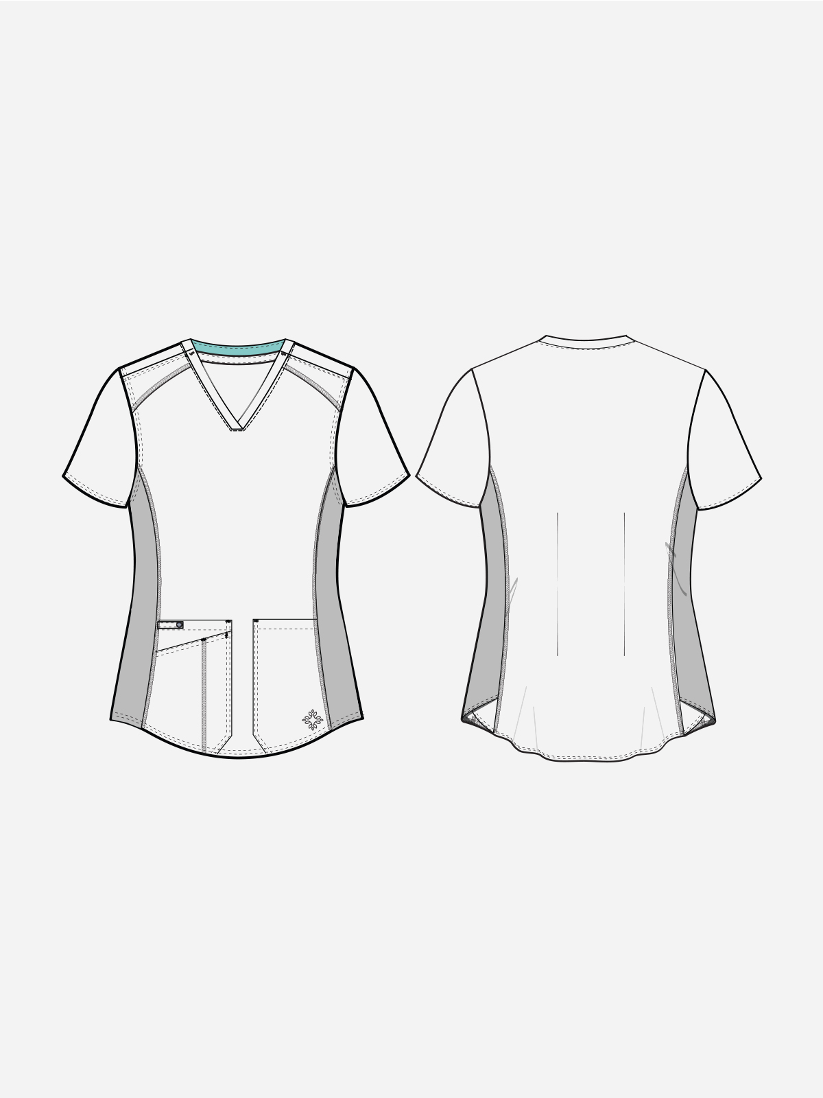Touch V-neck Shirttail Top   7459