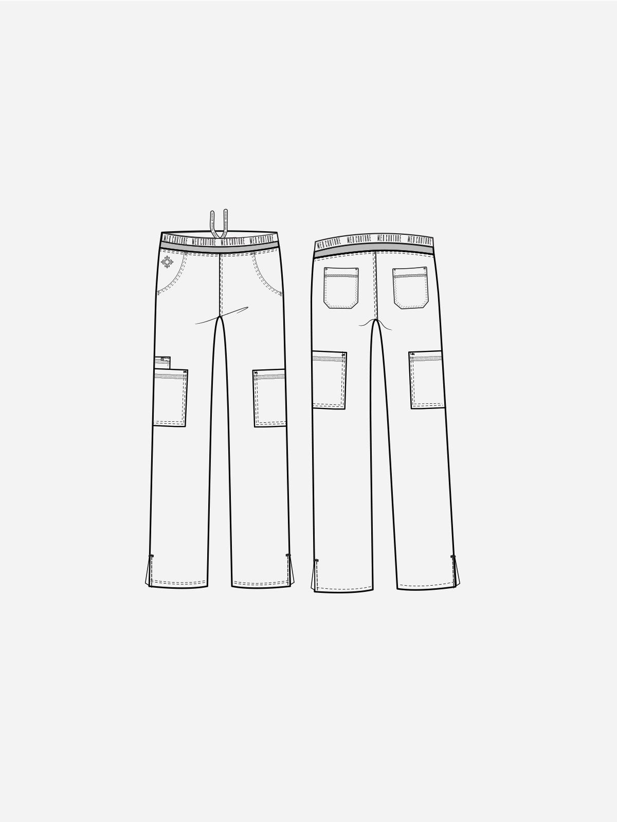 Touch Yoga 2 Cargo Pocket Pant   7739