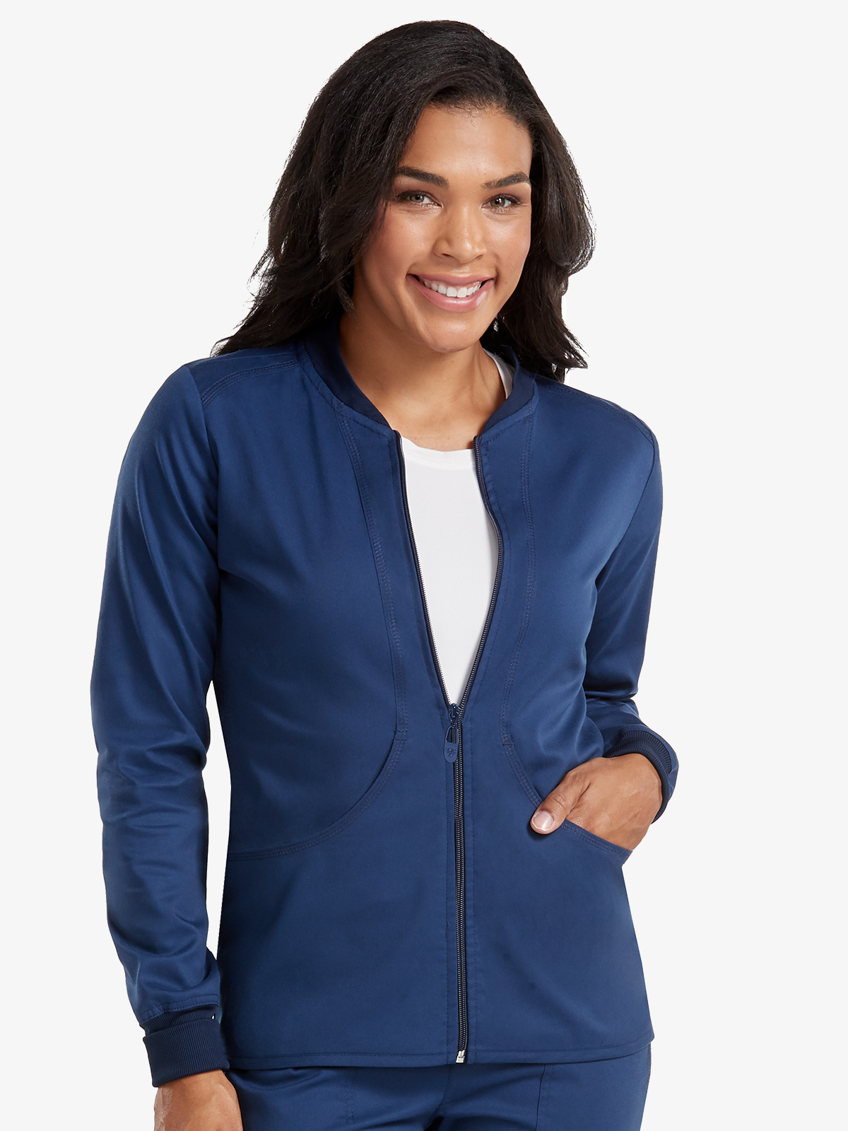 Layers Zip Front Warm Up   7663