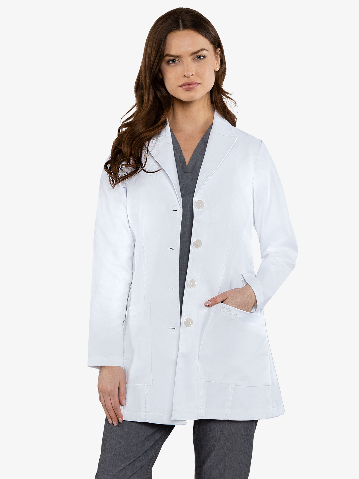 Premium Lab Wear, Tailored Mid Length | 9644