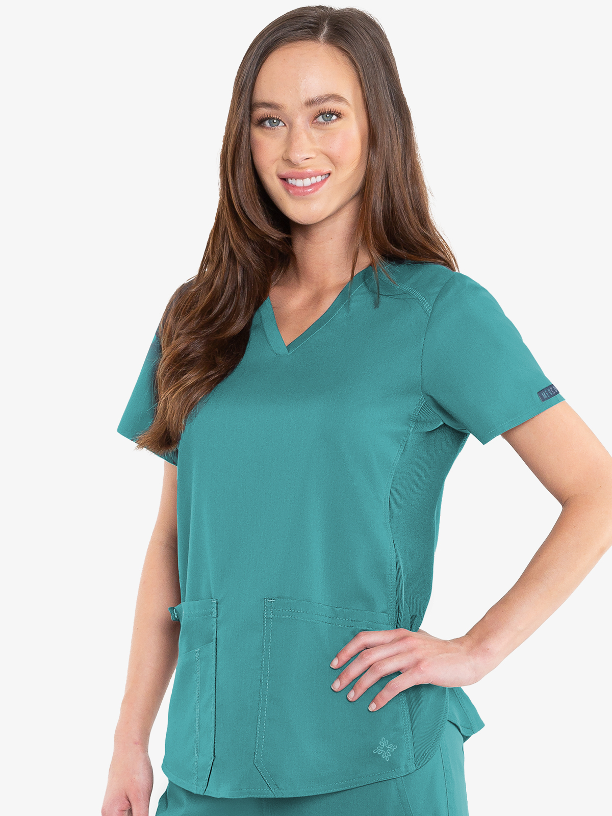 7459 Touch V-neck Shirttail Top