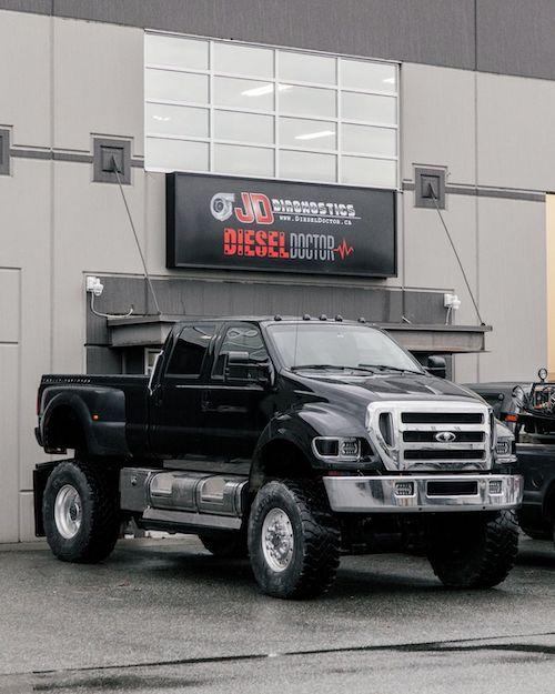 Big Ford F-650 outside DieselDoctor.ca shop