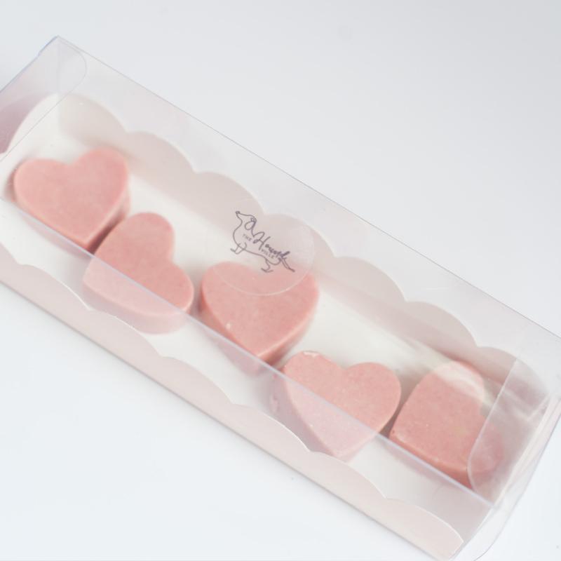 Strawberry Love Heart Shaped Chocolates