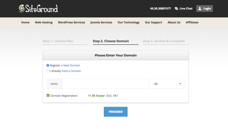 Start a WordPress blog on SiteGround