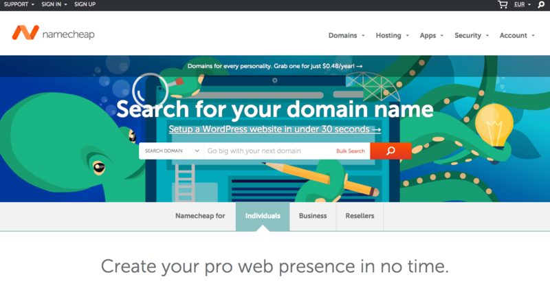 Start a WordPress blog- register a domain name