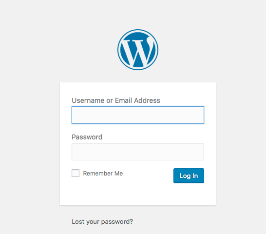 Start a WordPress blog- Log into your Wordpress dashboard