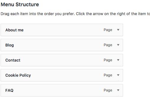 customize Wordpress menu