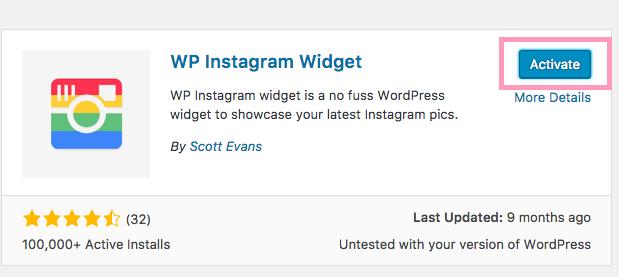 add Instagram widget Wordpress lipstick and pixels tutorial