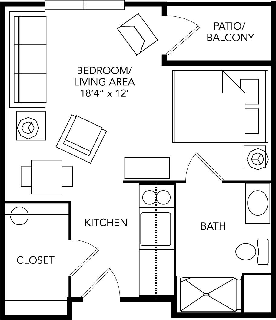 Assisted living floor plan Franklin, VA