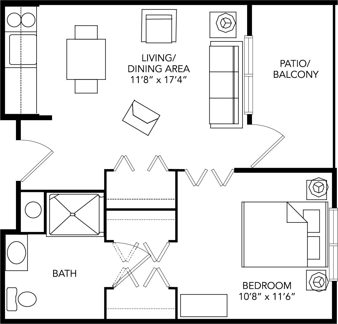 Assisted living private bedroom Franklin, VA