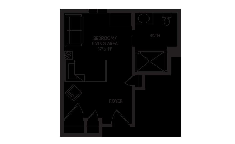 Memory Care Virginia floor plan