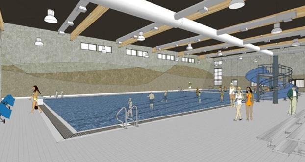 Future natatorium, artists rendering