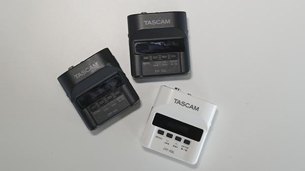 3 Tascam DR-10L. 1 white, 2 black.
