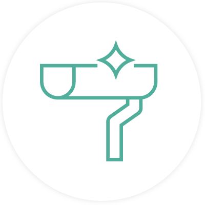 Eavestrough cleaning icon