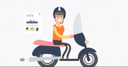 Color of Money Risk Analysis graphic person riding a moped