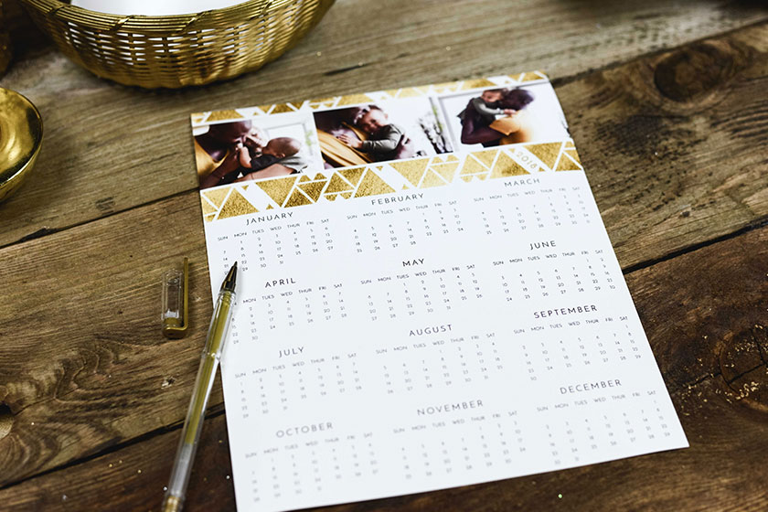 Our photo calendars make a great gift for friends & family. Relive the moments you shared.