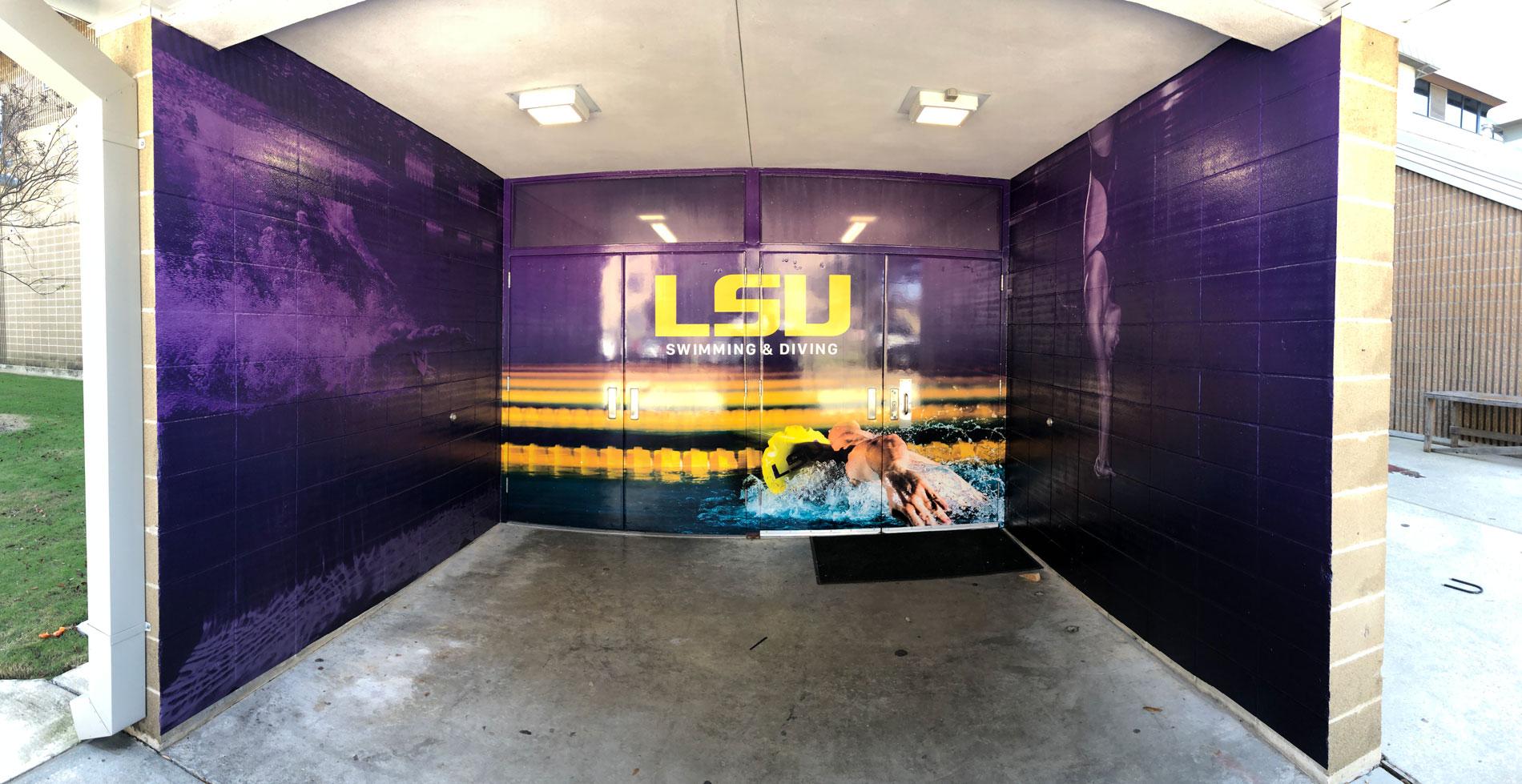 LSU Natatorium Entrance Baton Rouge Concrete and Specialty Vinyls
