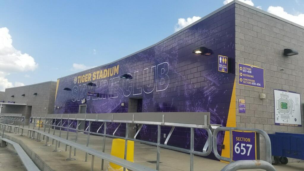 LSU Stadium Skyline Club Baton Rouge Concrete Vinyl