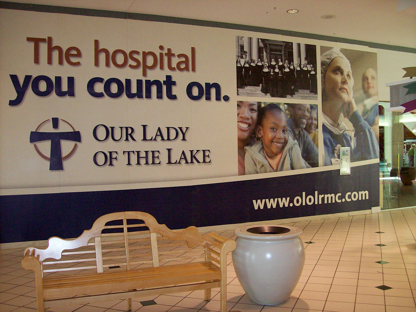 OLOL Mural in Mall of Louisiana Baton Rouge