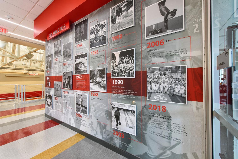 St Joseph Academy Gymnasium 3 Baton Rouge Wall Mural Vinyl