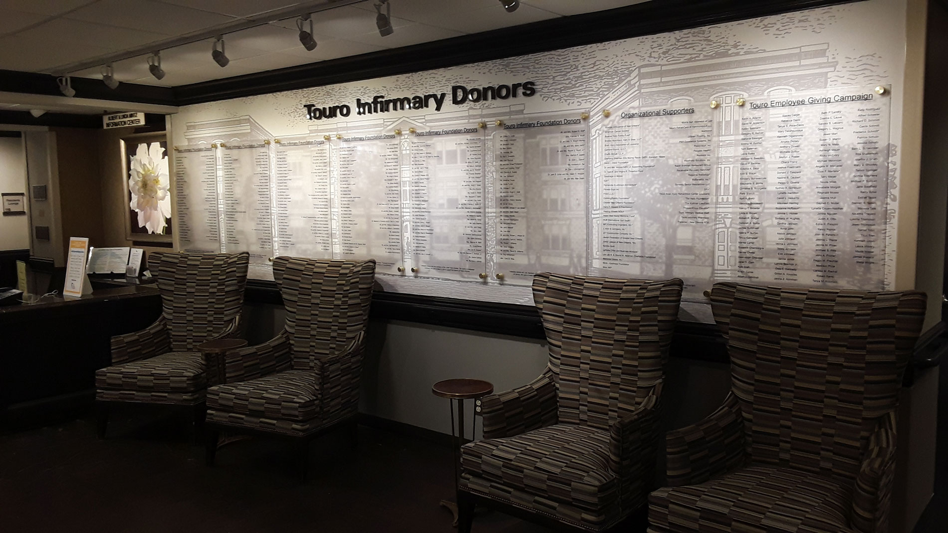 Touro Infirmary Donor Wall New Orleans Wall Vinyls