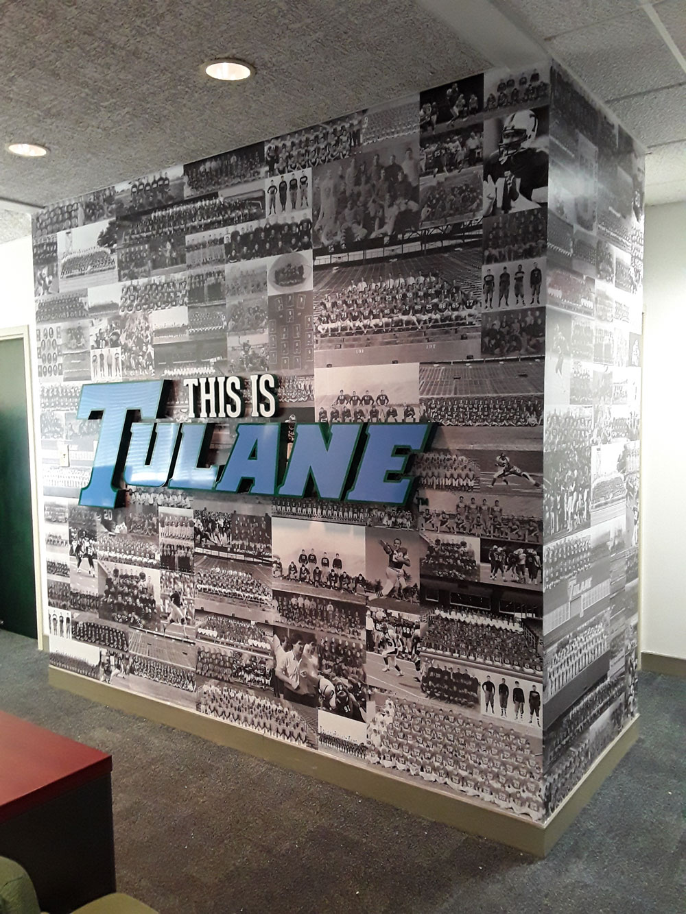 Tulane Football Operations Office New Orleans Wall Vinyl