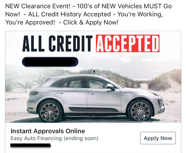 All Credit Accepted Ad
