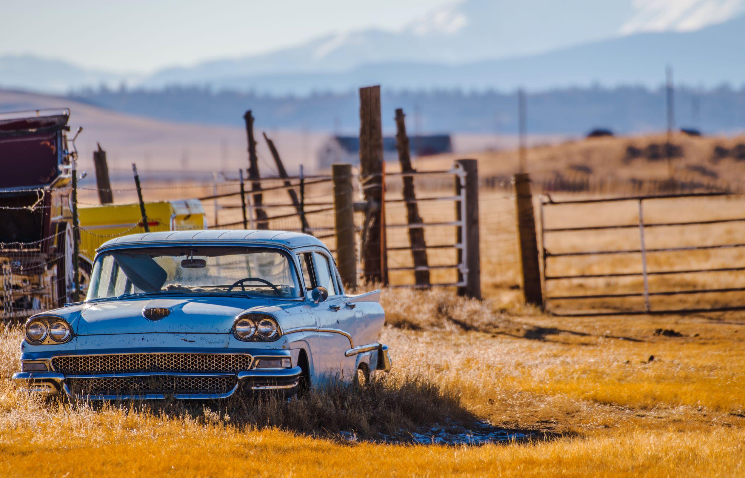 car in the prairies