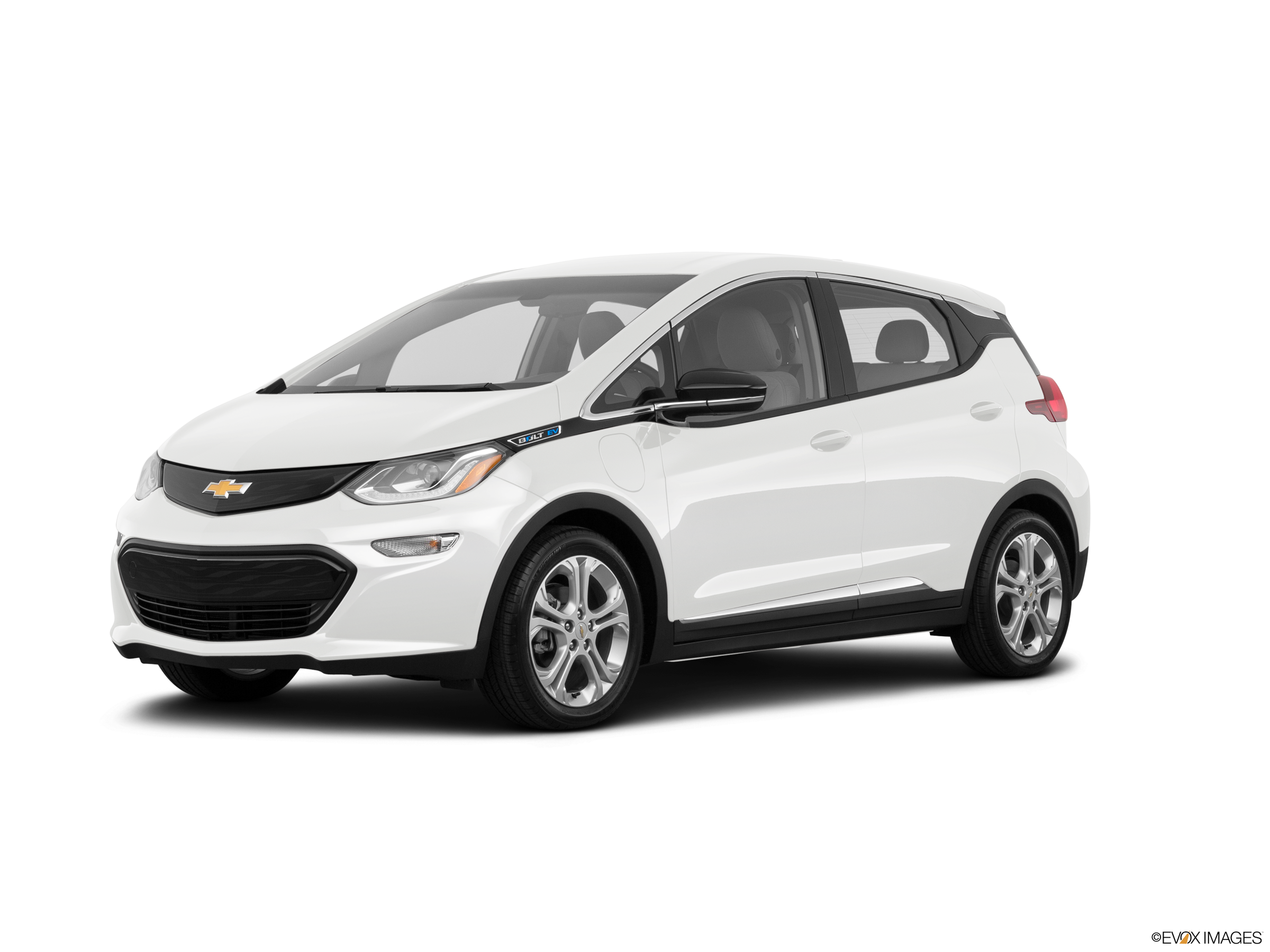White Chevy Bolt Electric vehicle