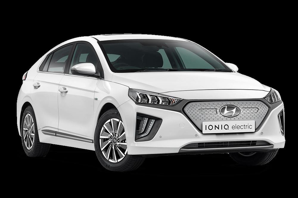 White Hyundai Ionic Electric