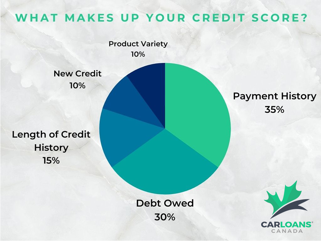 What makes up your credit score graph