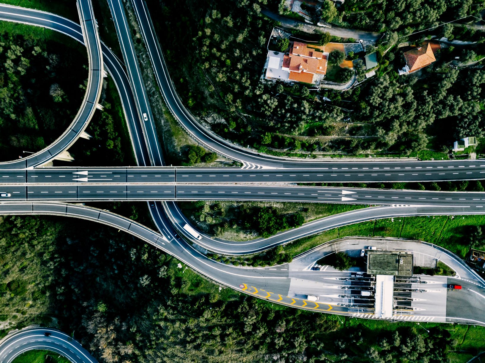 highway shot from above