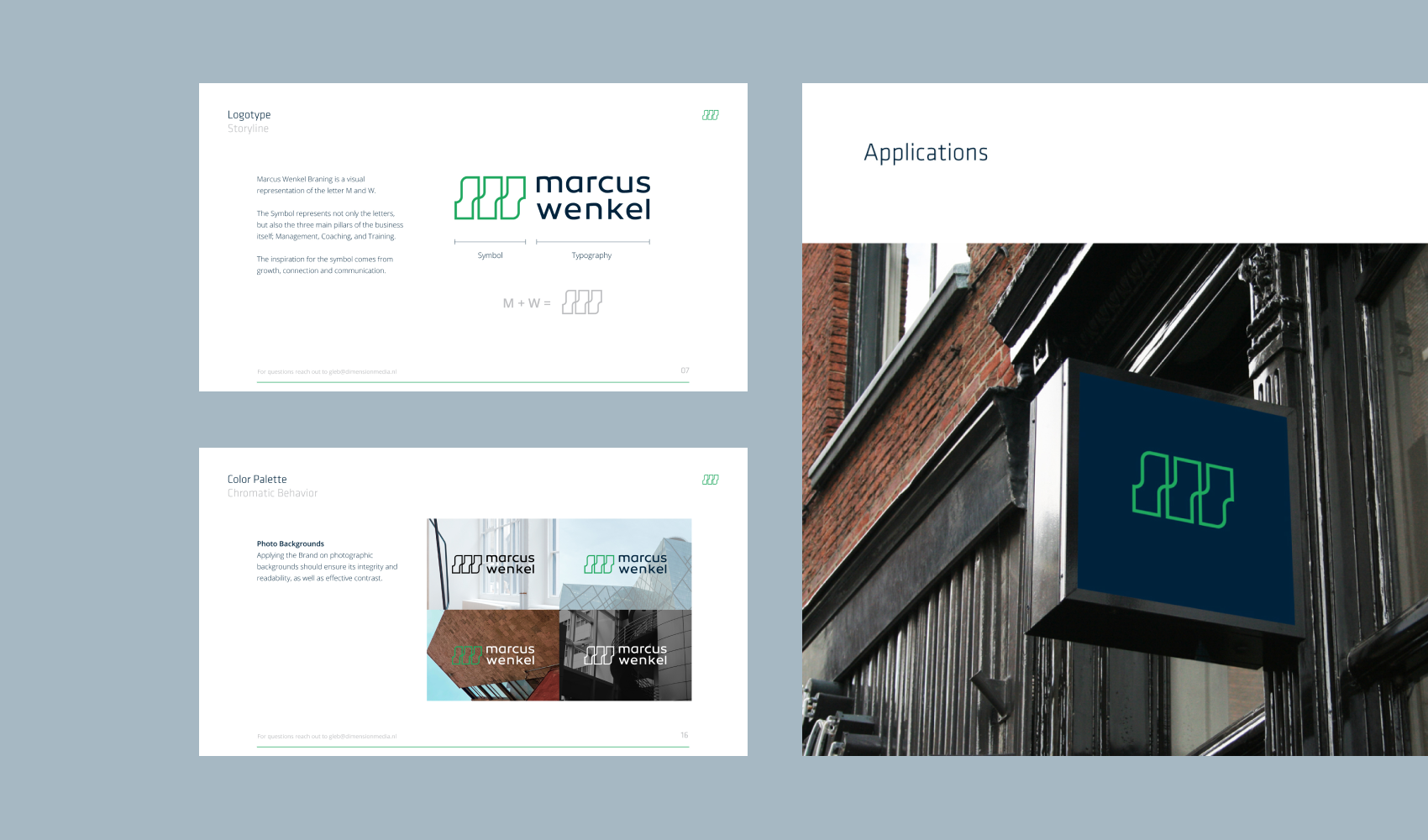 Marcus Wenkel Brand Guidelines Preview