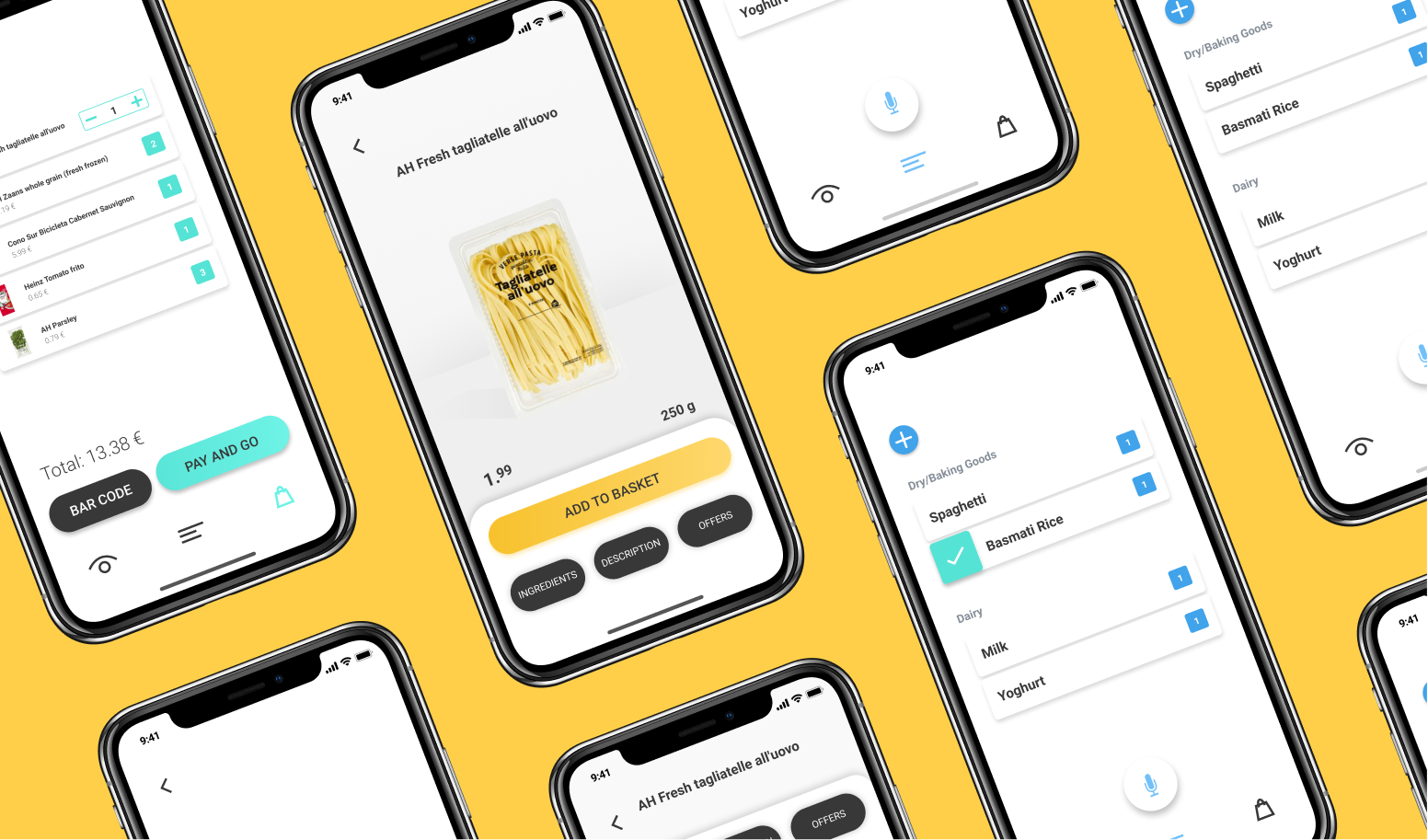 UX/UI of shopon , app for the blind