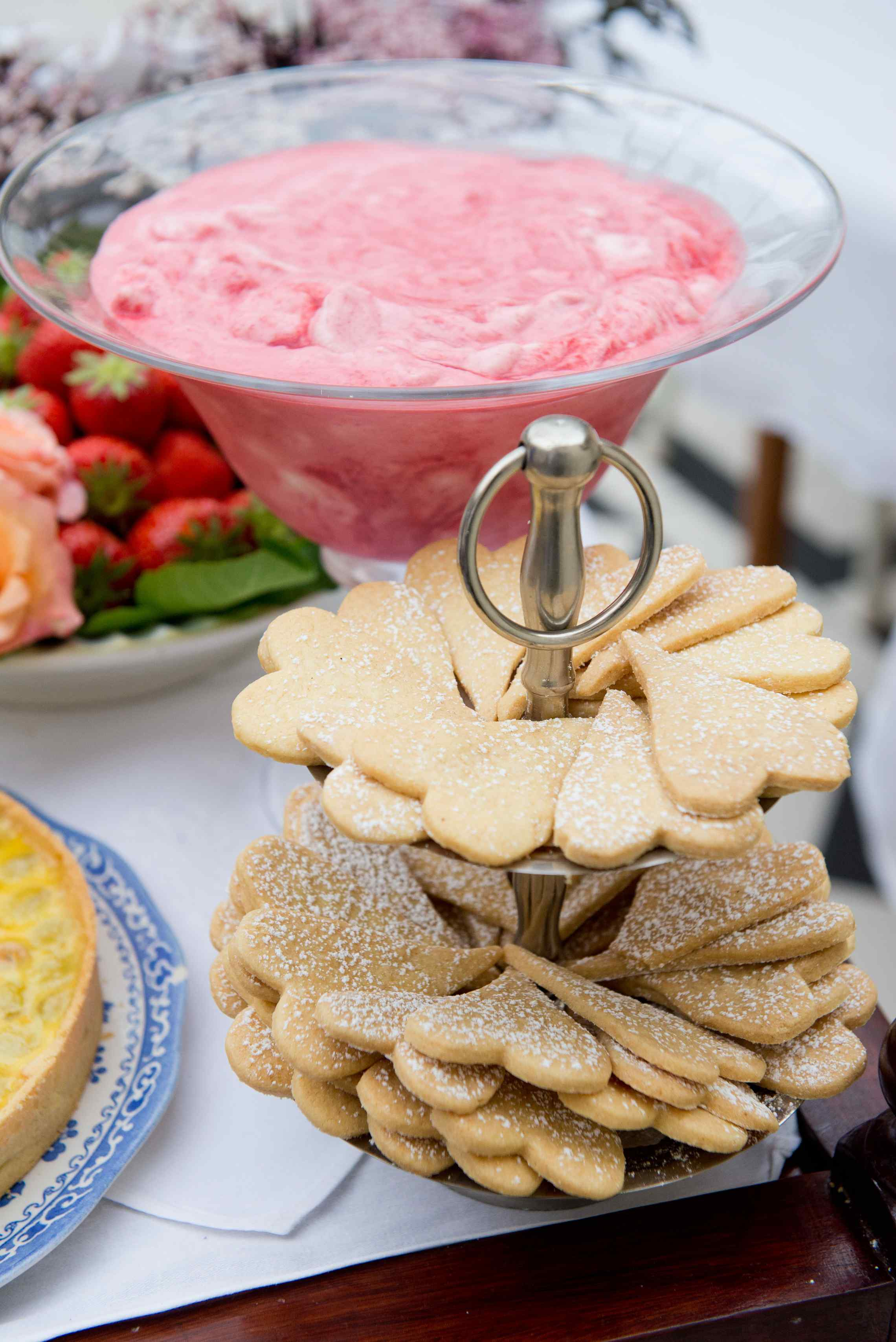 Rhubarb Fool served with Jane's Shortbread Biscuits