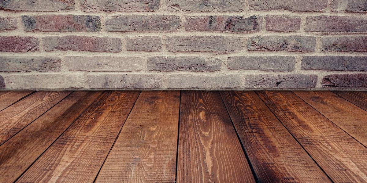 Brick wall and wood flooring