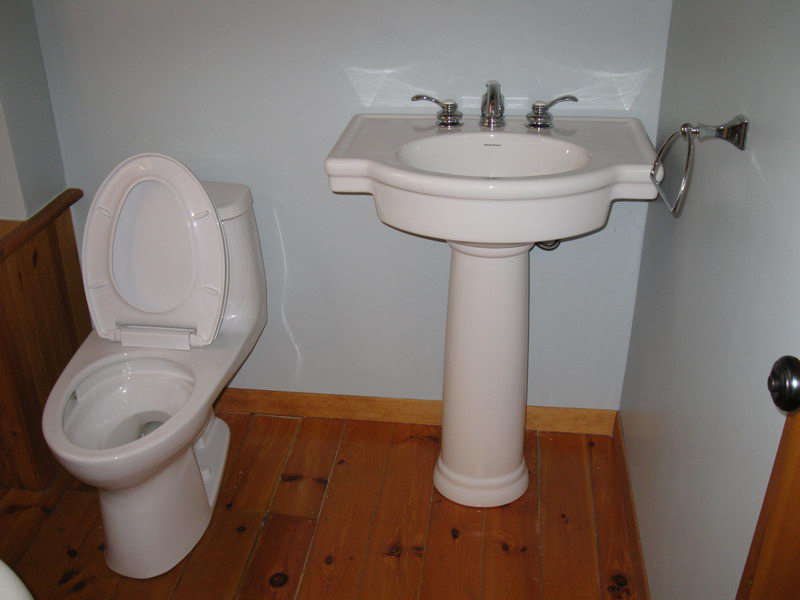 Design & Renovate Project: Scandinavian Log Home - Old Toilet and Sink