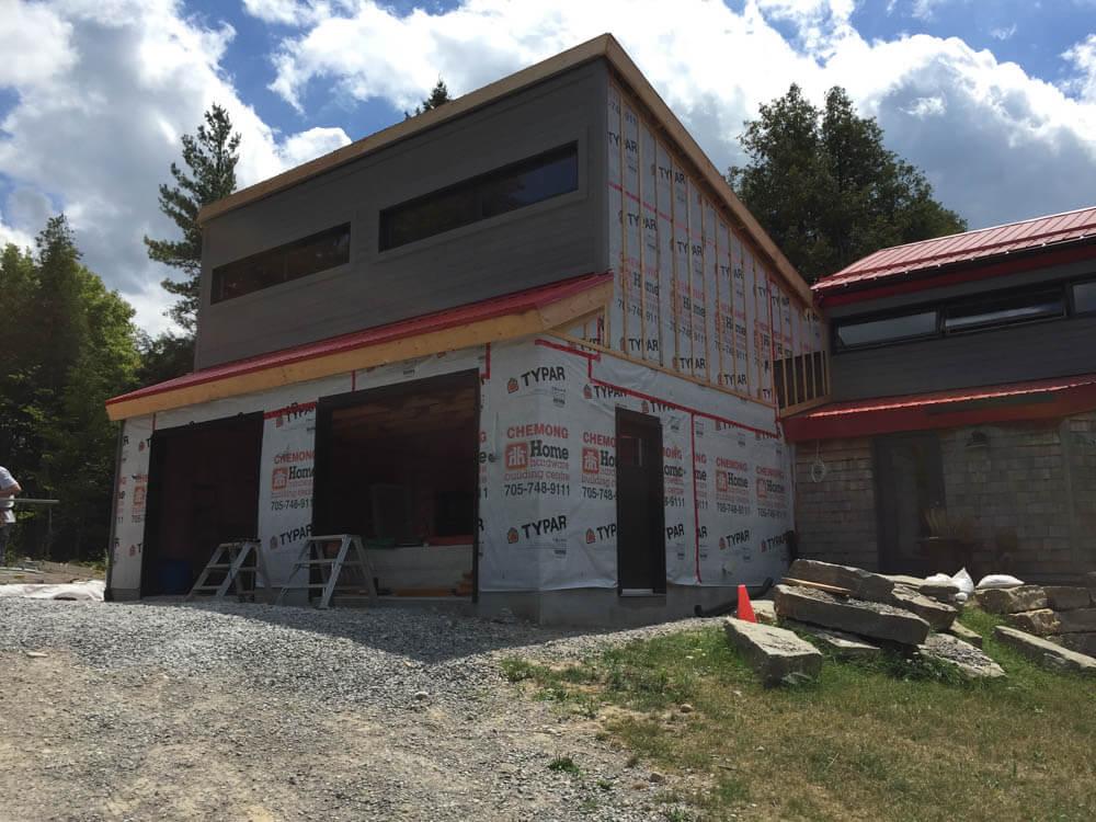 Design & Build Project: Pontypool Possibilities - Exterior Garage Insullation