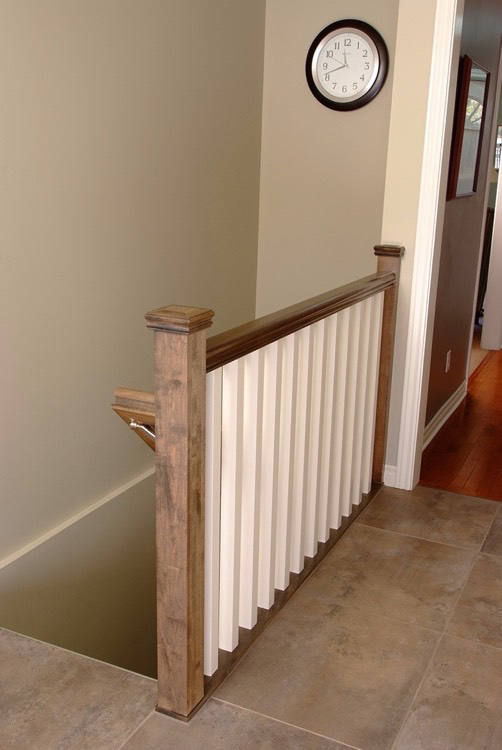 Design & Renovate Project: Dalhaven Custom Kitchen - Stairs To Basement