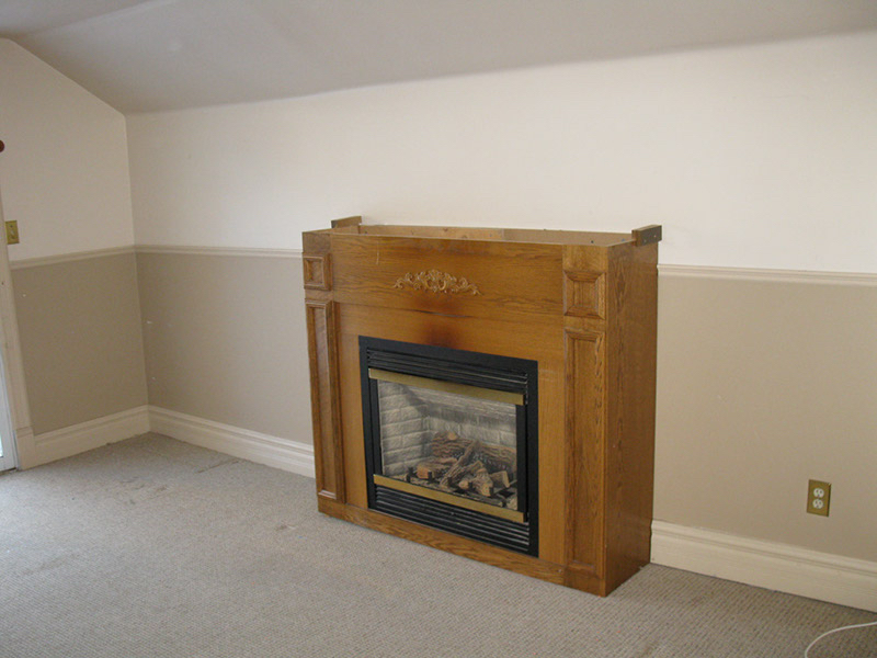 Design & Renovate Project: Main Floor Renovation - Old Fireplace Before Removal