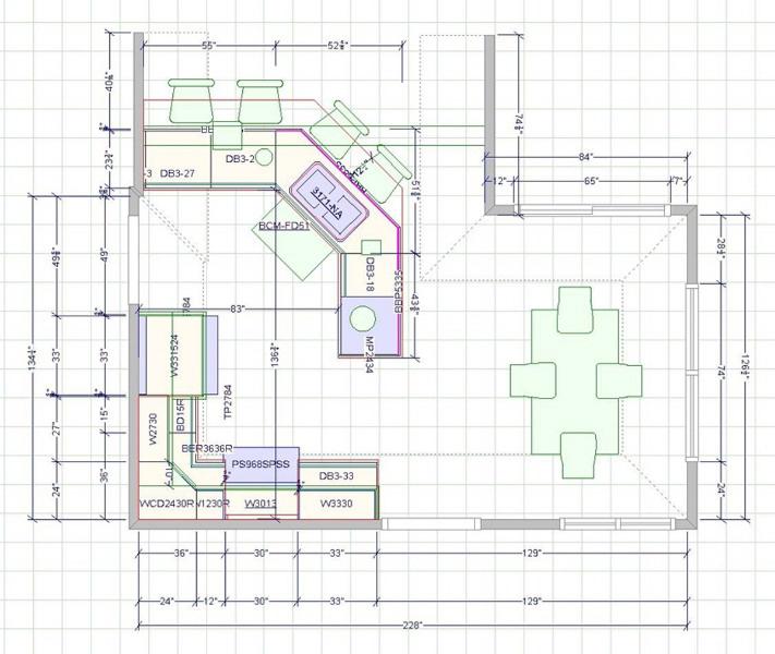 Kitchen Design & Renovate Project: Summit Custom Kitchen - Floor Plan Rendering