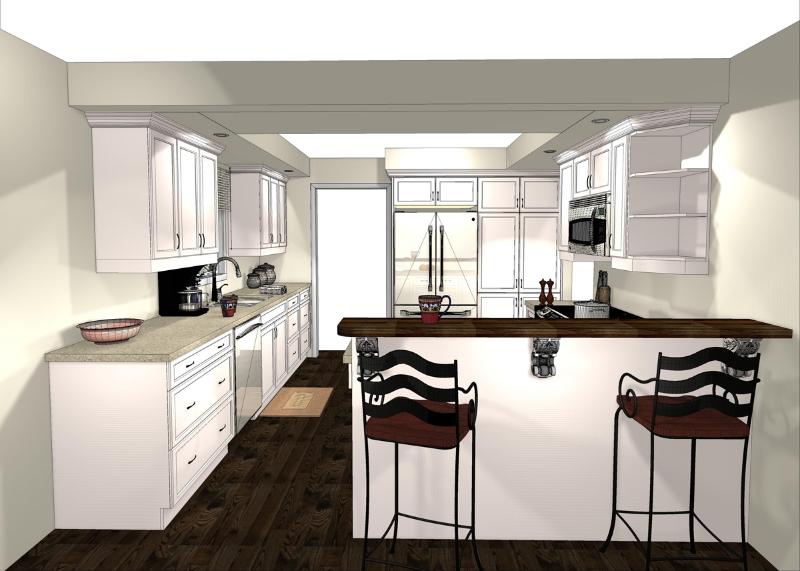 Design & Renovate Project: Albertus Custom Kitchen - Design Rendering