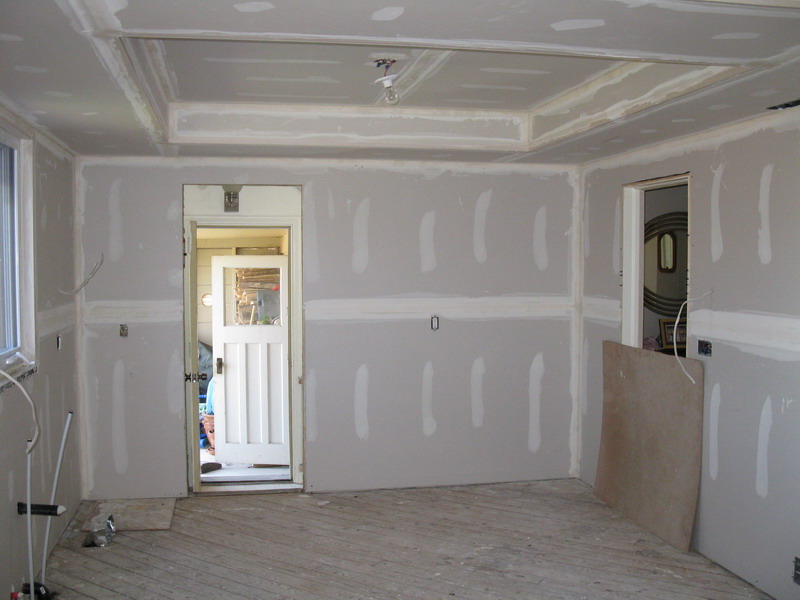 Design & Renovate Project: Albertus Custom Kitchen - New Drywall Installed and Mudded