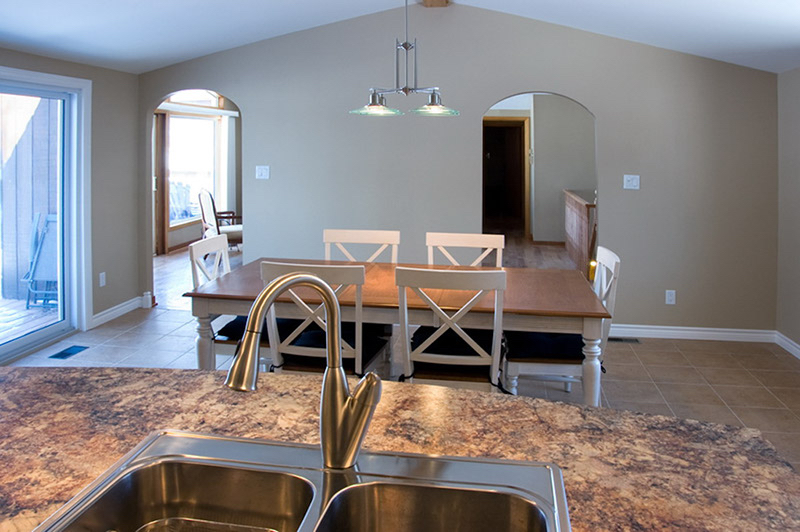 Design & Build Project: Chemong Lake - Kitchen Looking Into Dinning Area