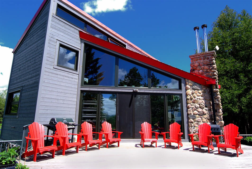 Design & Build Project: Pontypool Possibilities - Sitting Area with Red Muskoka Chairs
