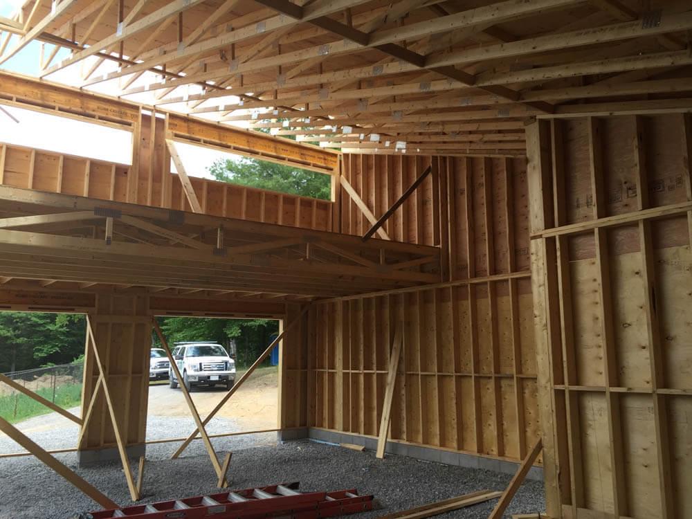 Design & Build Project: Pontypool Possibilities - Interior View of Constructing Garage