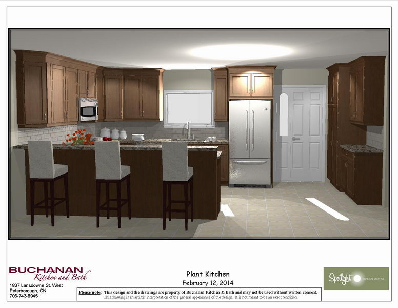 Design & Renovate Project: Westbrook Custom Kitchen - Design Rendering