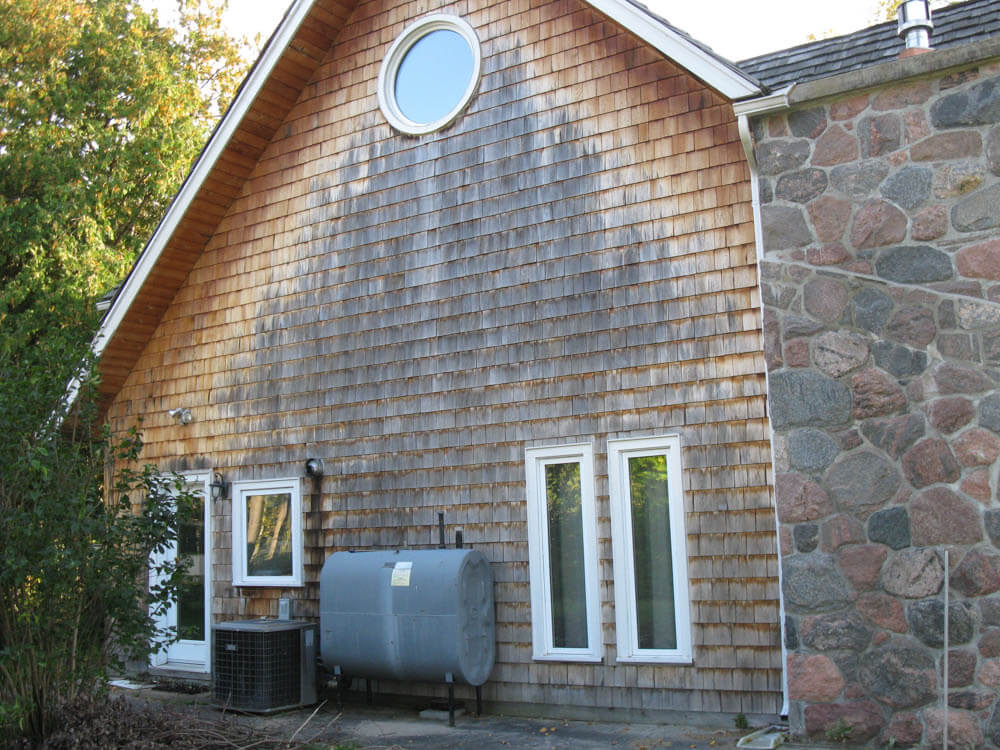 Design & Build Project: Young's Point - Wood Siding Is Warren out