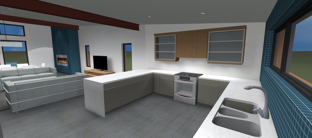 Net Zero Home Peterborough - Interior Rendering